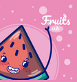 watermelon cute fruit cartoons vector image vector image
