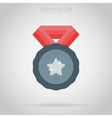 Winner isolated medal label or sticker vector image