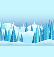 winter horizontal landscape vector image vector image