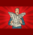 bad news in the newspaper vector image