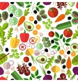 Salad ingredients seamless pattern vector image
