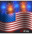 4th july background independence day vector image