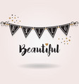 abstract black and golden hello beautiful banner vector image vector image