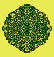 abstract mandala ornament asian style pattern vector image