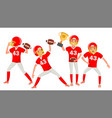 american football man player male vector image