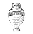 Antique greek amphora sketch engraving