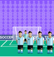 Argentina Soccer Club Penalty on a Stadium vector image vector image