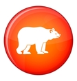 Bear icon flat style vector image vector image