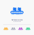 belt box conveyor factory line 5 color glyph web vector image vector image