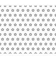 black star line on white background vector image vector image