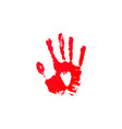blood hand print vector image