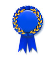 blue award ribbon best trophy luxury vector image vector image
