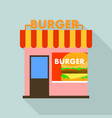 burger shop icon flat style vector image