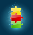 Business concept with set puzzle pieces for succes vector image vector image