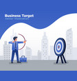 businessman aiming at target shooting arrow vector image vector image