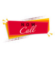 call now banner template design vector image vector image