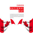 canada national day template design vector image