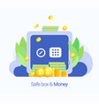 cash protection concept vector image