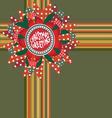christmas greeting decor vector image vector image