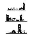 church ruins vector image
