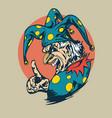 crazy clown clipart vector image
