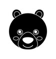cute animal bear head baby vector image vector image