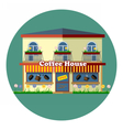 Digital coffee house cafe shop vector image