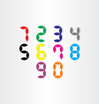 digital stylized numbers from 0 to 9 vector image