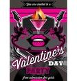 Disco background for Valentine party poster vector image vector image