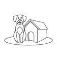 dog house cartoon vector image vector image