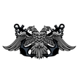 Double headed Imperial eagle on anchors vector image vector image