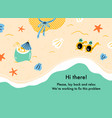 error web page with vacation on beach summer vector image