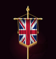 flag of united kingdom festive vertical banner vector image vector image