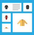 flat icon garment set of clothes banyan elegant vector image vector image