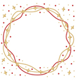 frame star round vector image vector image