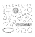 Freehand drawing scribble items vector image