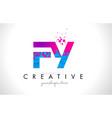 fy f y letter logo with shattered broken blue vector image vector image
