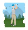 golf player cartoon vector image vector image