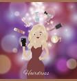hairdress salon beauty studio bokeh background vector image