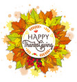happy thanksgiving placard on vector image