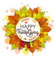 happy thanksgiving placard vector image vector image