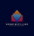 home network design template vector image vector image