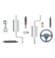 icons of car parts for garage auto services set vector image vector image