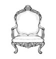 imperial baroque armchair in luxurious ornaments vector image vector image