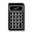 isolated desk calculator vector image
