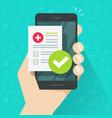 medical prescription online or digital medicine vector image vector image