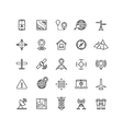 Outline location icons set vector image vector image