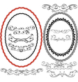 oval border vector image vector image