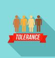 people tolerance logo flat style vector image