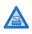 railroad crossing line icon vector image